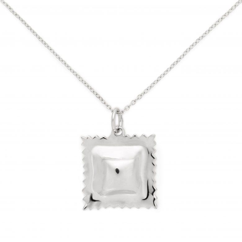 Ravioli Necklace, Sterling Silver