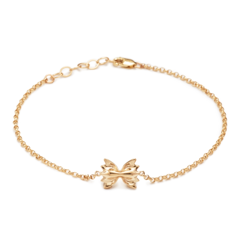 "Yellow Gold Plated ""Mini"" Farfalle Bracelet"