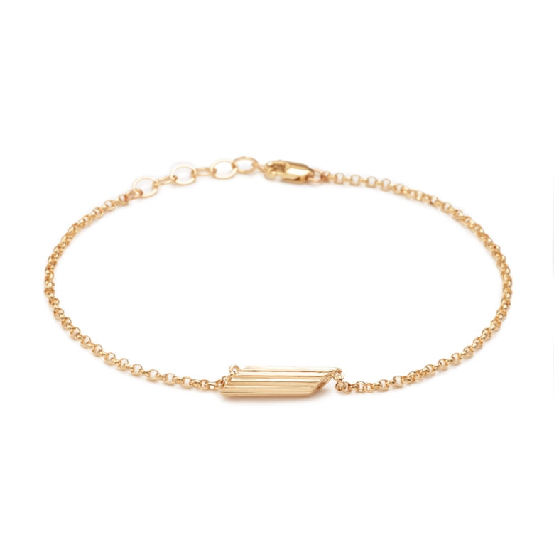 "Yellow Gold Plated ""Mini"" Penne Bracelet"