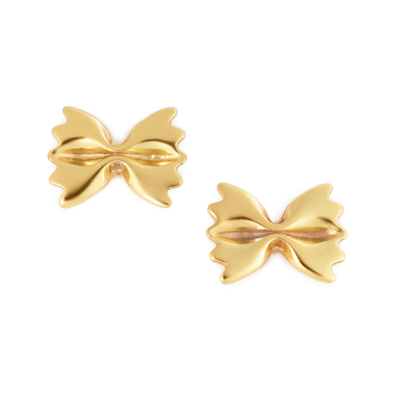 Farfalle Earrings, Yellow Gold Plated