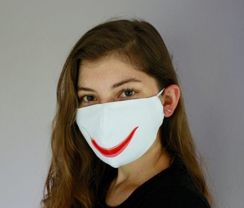 """Smile"" Chili Pepper Mask"
