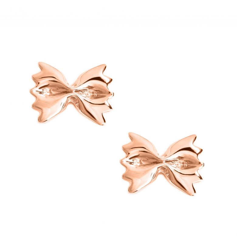 Farfalle Earrings, Rose Gold Plated