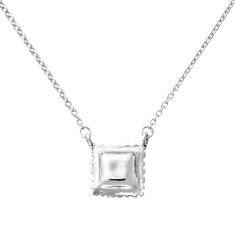 Ravioli Necklace, Mini Size, Sterling Silver