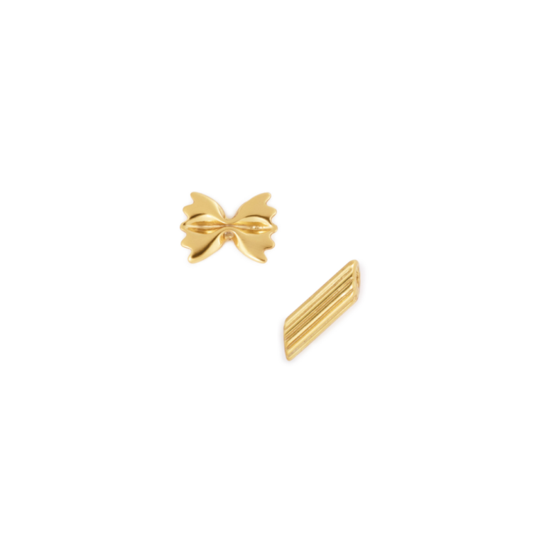Pasta Lovers Earring Set, Yellow Gold Plated